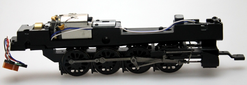 Loco Chassis w/Drive Wheels-Dull-Blk (HO Canadian Overland)
