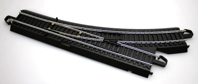 Manual Turnout Track - Left, Steel Alloy (HO/On30 Scale)