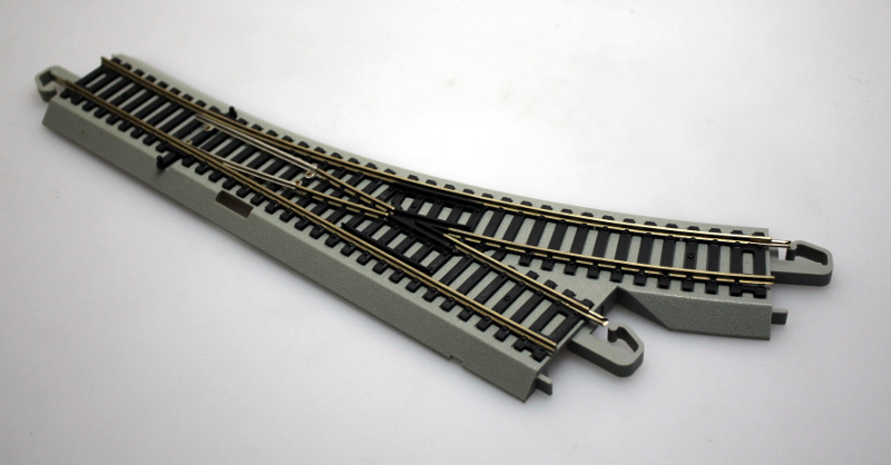 Manual Turnout Track - Left, Nickel Silver (HO/On30 Scale)