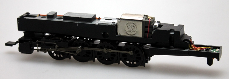 Loco Chassis -Dull-Black (HO GS4/GS64 4-8-4)