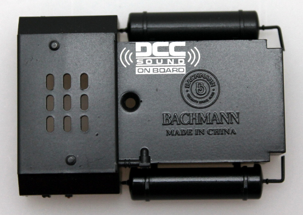 FUEL TANK w/ DCC Sound Logo-Black (HO RS-3)