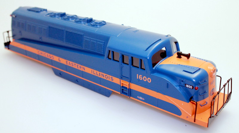 Body Shell - Chicago&Eastern Illinois #1600 (O Scale BL-2)