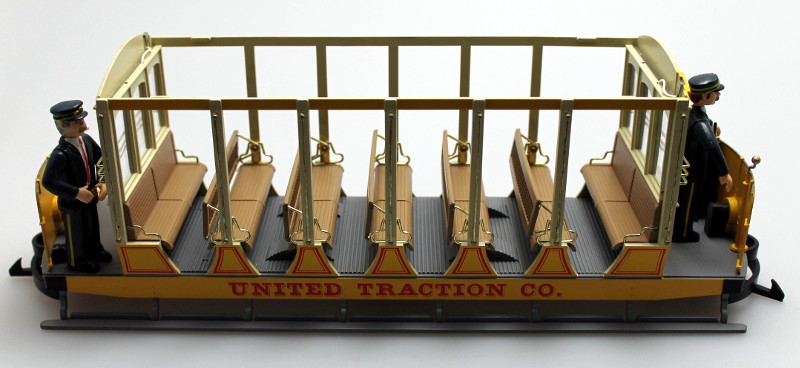 Shell w/o Roof - United Traction, Yellow (G Scale Streetcars)