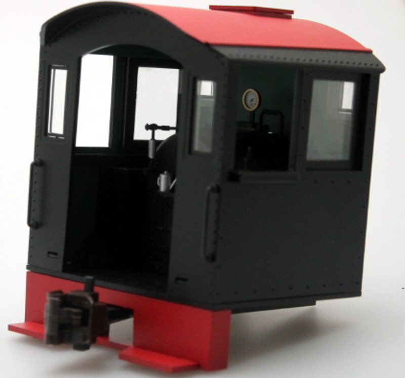 Cab - Black/Red Roof (Large 0-4-0 Saddle Tank)