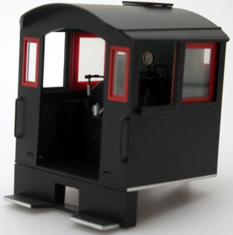 Cab - Black/Red Windows (Large 0-4-0 Saddle Tank)