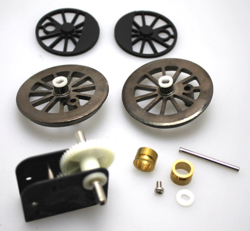 Gearbox & Wheel Set Assembly - Black (Large 4-6-0)