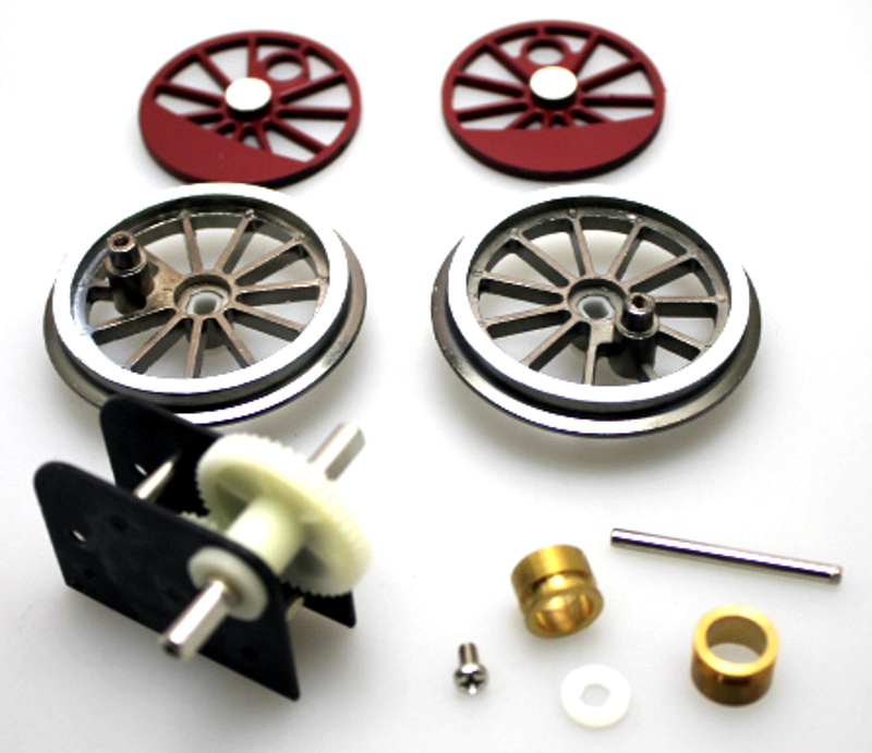 Gearbox & Wheel Set Assembly - Burgandy (Large 4-6-0)