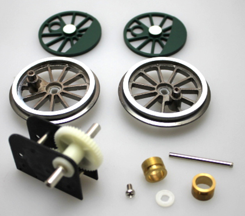 Gearbox & Wheel Set Assembly - Green (Large 4-6-0)
