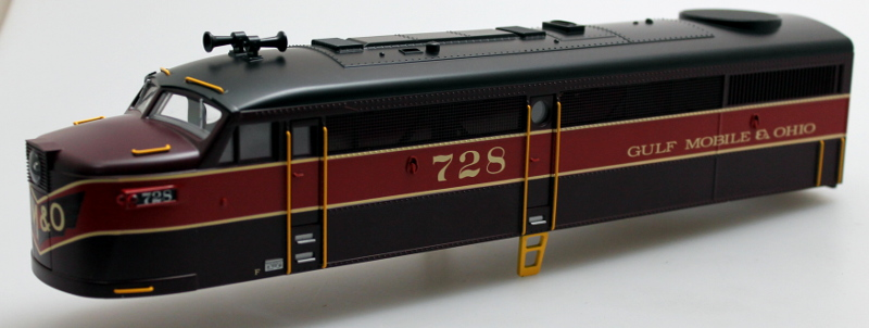 Body Shell-Gulf Mobile & Ohio #728 (O FA-1)