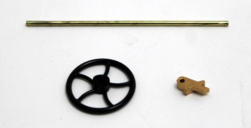 Brake Wheel w/Shafts (Large 4-4-0)