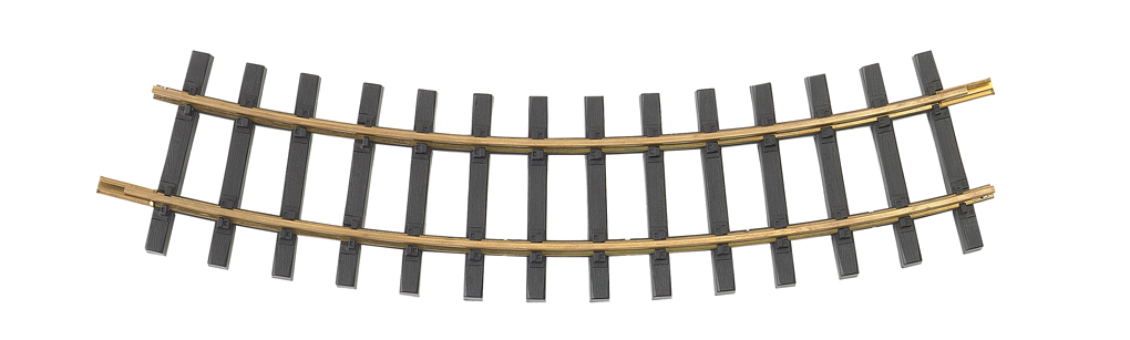 Brass Track 4' Curve (G Scale)