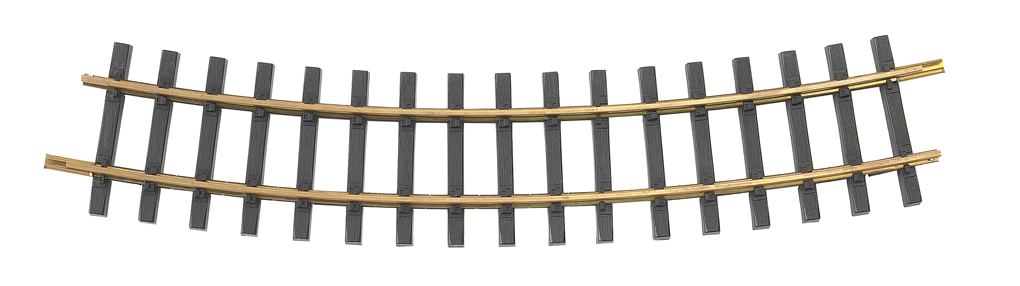 Brass Track 5' Curve (G Scale)