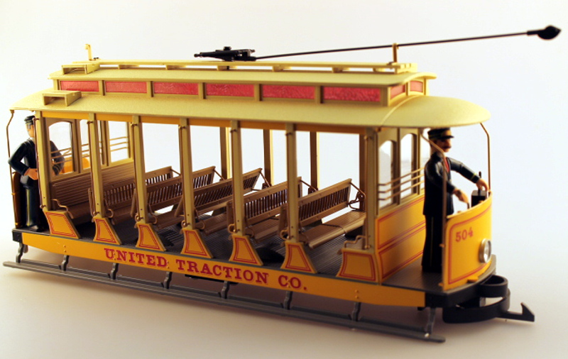 Shell w/Roof - Open United Traction, Yellow (G Streetcars)
