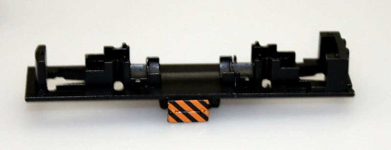 Loco Chassis Frame - Black/Orange Stripes (N Scale S4)
