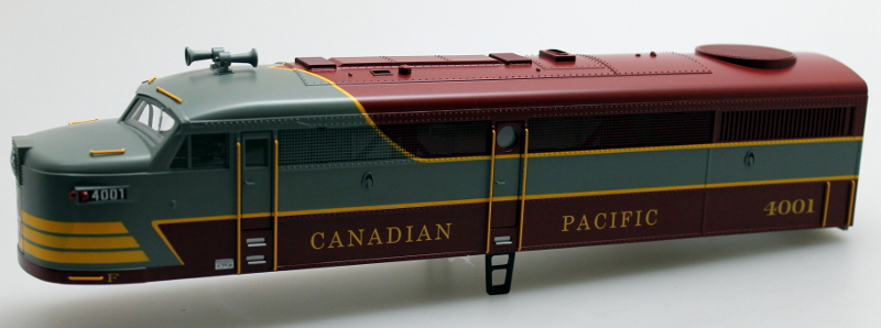 Body Shell-Canadian Pacific #4001 (O FA-1)