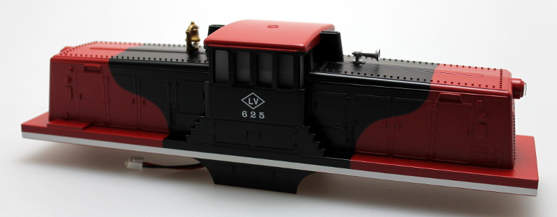 Body Shell w/ Sound Unit-LV Red&Black #625 (O Scale 44 Ton)