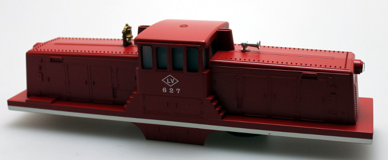 Body Shell w/ Sound Unit-Lehigh Valley Red #627 (O Scale 44 Ton)