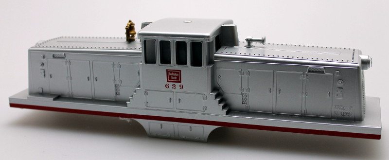 Body Shell w/ Sound Unit-Burlington #629 (O Scale 44 Ton)