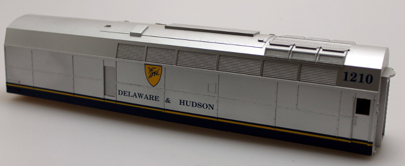 Body shell - Delaware&Hudson #1210 (O Scale Shark B)