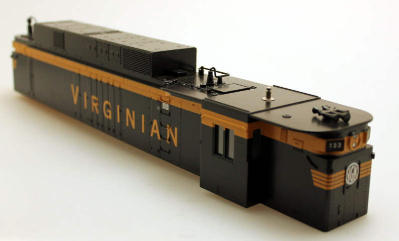Body Shell - Virginian Black/Yellow #133 (O Scale EF-4)