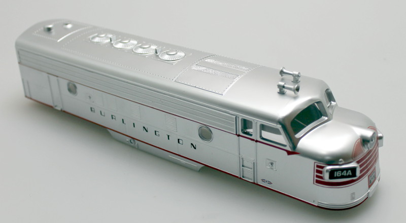 Body Shell - Burlington #164A (O Scale F7-A)
