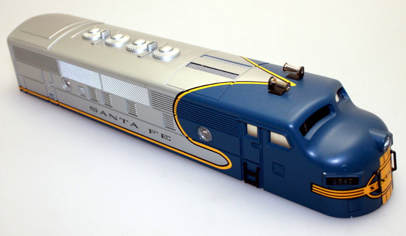 Body Shell - Santa Fe Silver/Blue #2347 (O Scale F3-A)