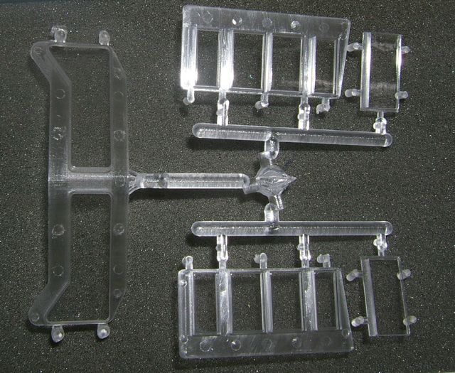 Window Glass - Complete Sprue (O Scale SD-90)