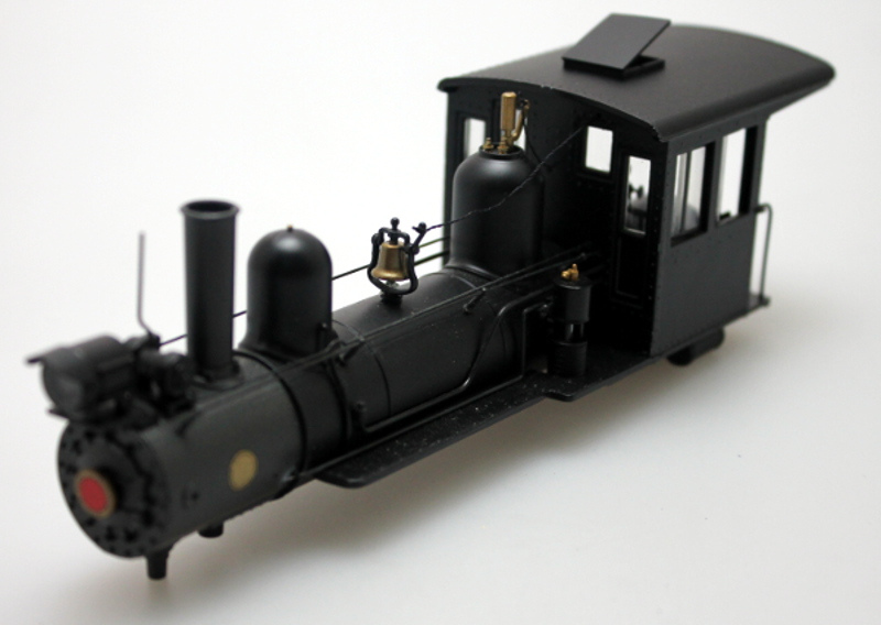 Loco Shell- Black- Steel Cab (4-4-0 Outside Frame)