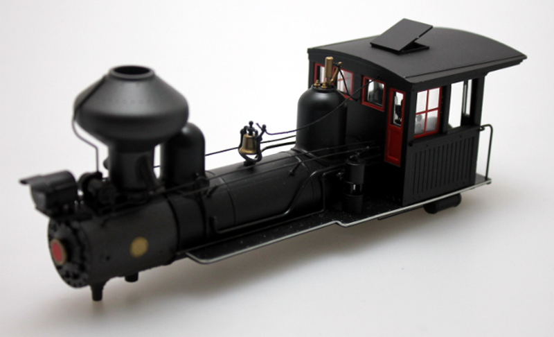 Loco Shell- Red Windows-White Stripe (4-4-0 Outside Frame)