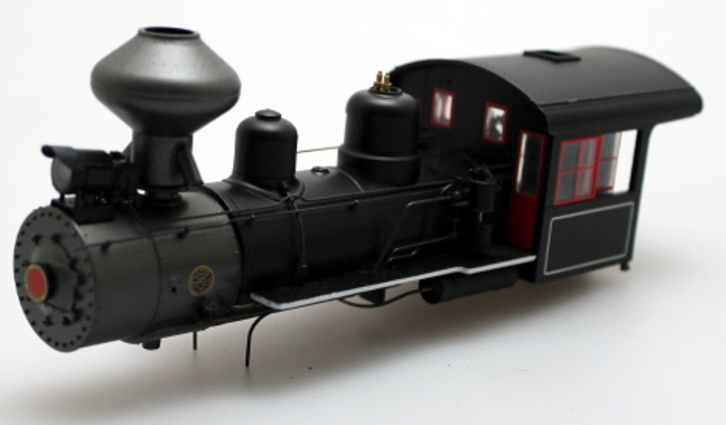 Loco Shell - Black w/ White Lines (On30 2-8-0) - Click Image to Close