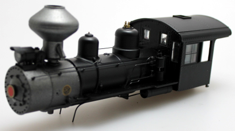 Loco Shell - Pntd Unlettered Black (On30 2-8-0)