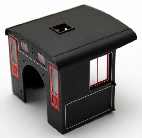 Cab - Black w/ Red & White Trim, Unltd (On30 Climax)