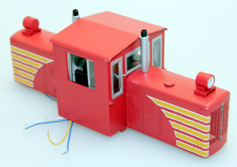 Body Shell - Red w/ Yellow (ON30 50 Ton Diesel)
