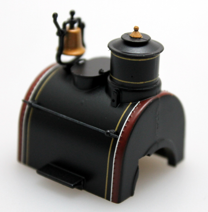 Boiler - Unlettered, Black, Maroon Gold (On30 0-4-2 DCC Sound)