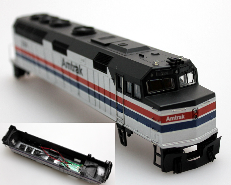 Body Shell - Amtrak #224, New (HO F40PH)