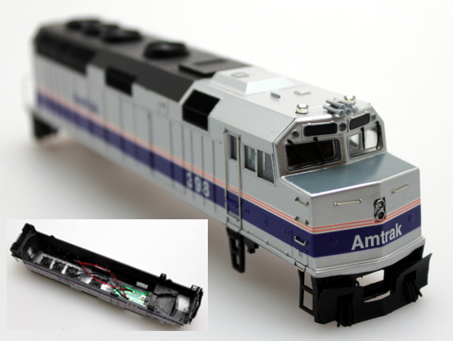 Body Shell - Amtrak #398, New (HO F40PH)