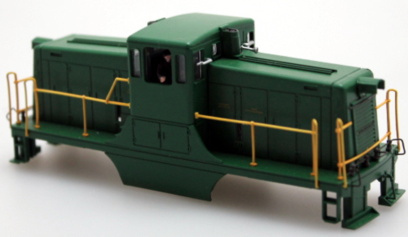 Shell - Unlettered, Green (HO 44Ton)