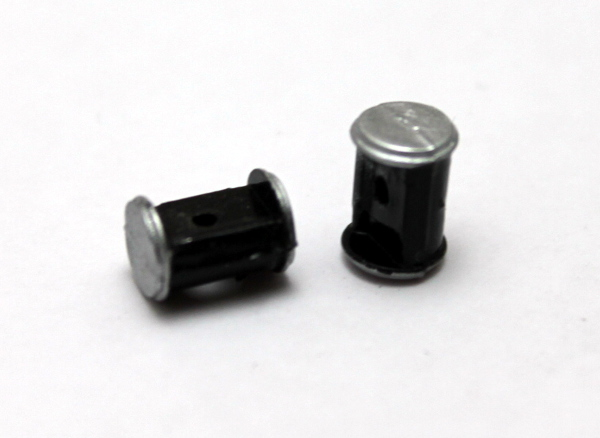 Cylinder/pair - Black/Silver (HO 4-4-0 American)
