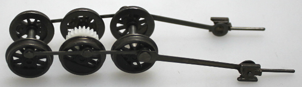 Drive Wheel Assembly w/ Rods - Black (HO 0-6-0/2-6-0/2-6-2)