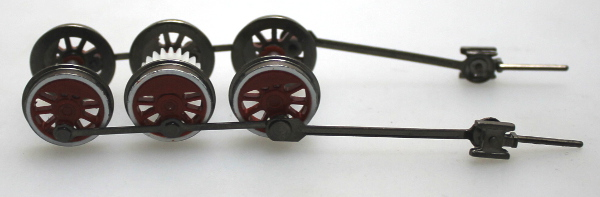 Drive Wheel Assembly w/ Rods - Red (HO 0-6-0/2-6-0/2-6-2)