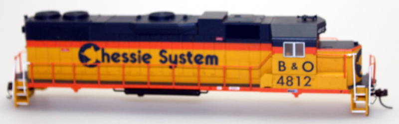 Body Shell - Chessie System B&O #4812 (HO GP38-2)