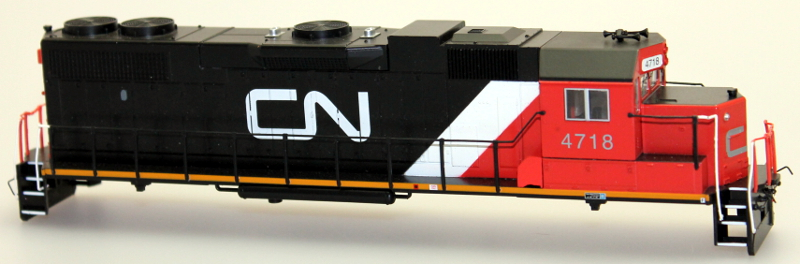 Body Shell - Canadian National #4718 (HO GP38-2)