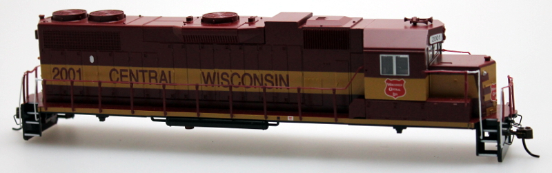 Body Shell - Central Wisconsin #2001 (HO GP38-2)