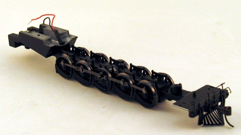 Loco Chassis w/Drive Wheels (HO 2-10-2)