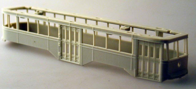 Body Shell - Undecorated (HO Peter Witt Streetcar)