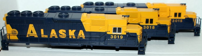 Shell - Alaska # 3019,3018,3015 (HO GP40) - Click Image to Close
