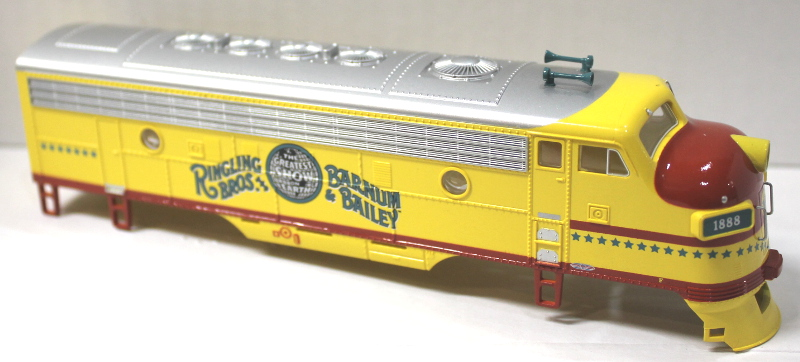 Body Shell - Ringling Bros. Yellow (HO F7-A)