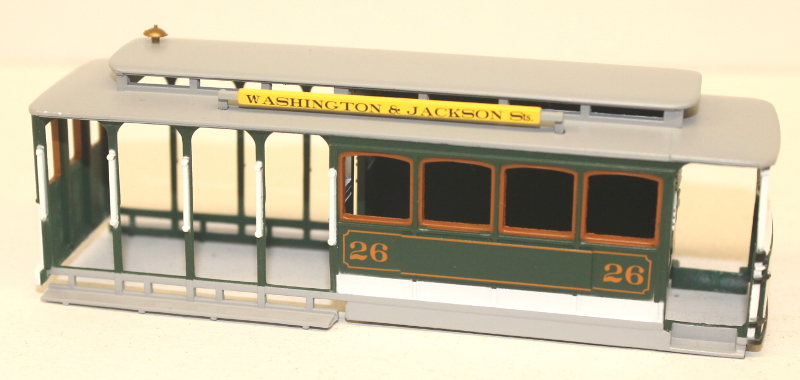Shell - Green & Gray (HO Cable Car)
