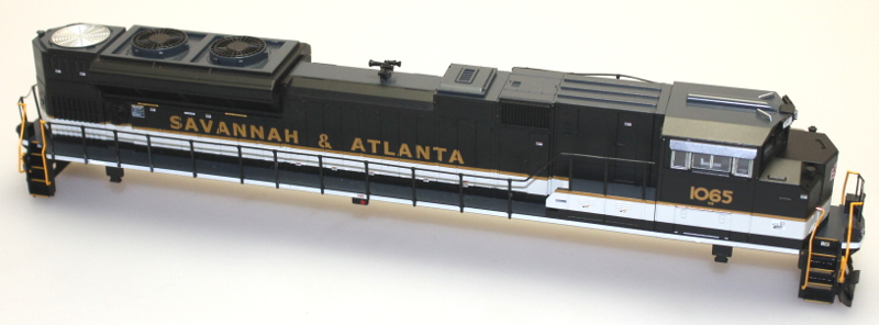 Shell w/Ditch Lights - Savannah & Atlanta #1065 (HO SD70)