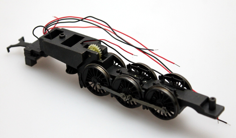 Chassis w/ Drive Wheels - Black (HO 4-6-2 K4)